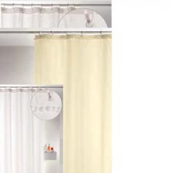Cortina baño pompones beige...