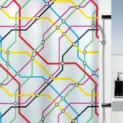 Cortina baño mapa de metro...