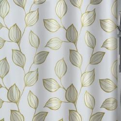 Cortina baño textil hojas...