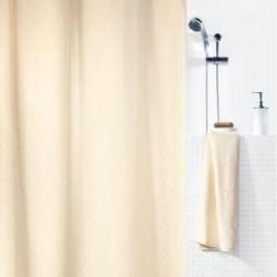 Cortina baño textil puntos...