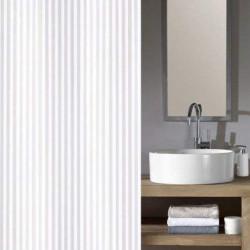 Cortina baño textil rayas