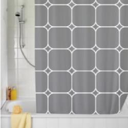 Cortina cuadrados gris...