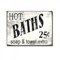 Lienzo o cuadro de baño baths