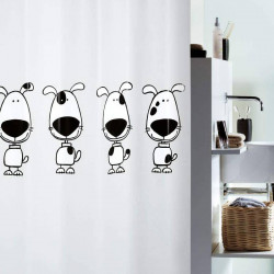 Cortina de baño perritos.