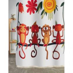 Cortina baño monos 180x180