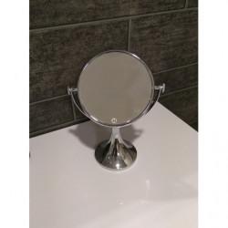 Espejo aumento x3 pie redondo