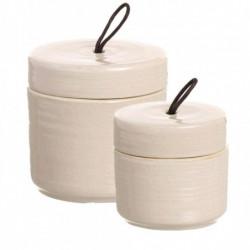 Juego cajitas porcelana