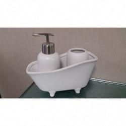 Juego de bañera blanco